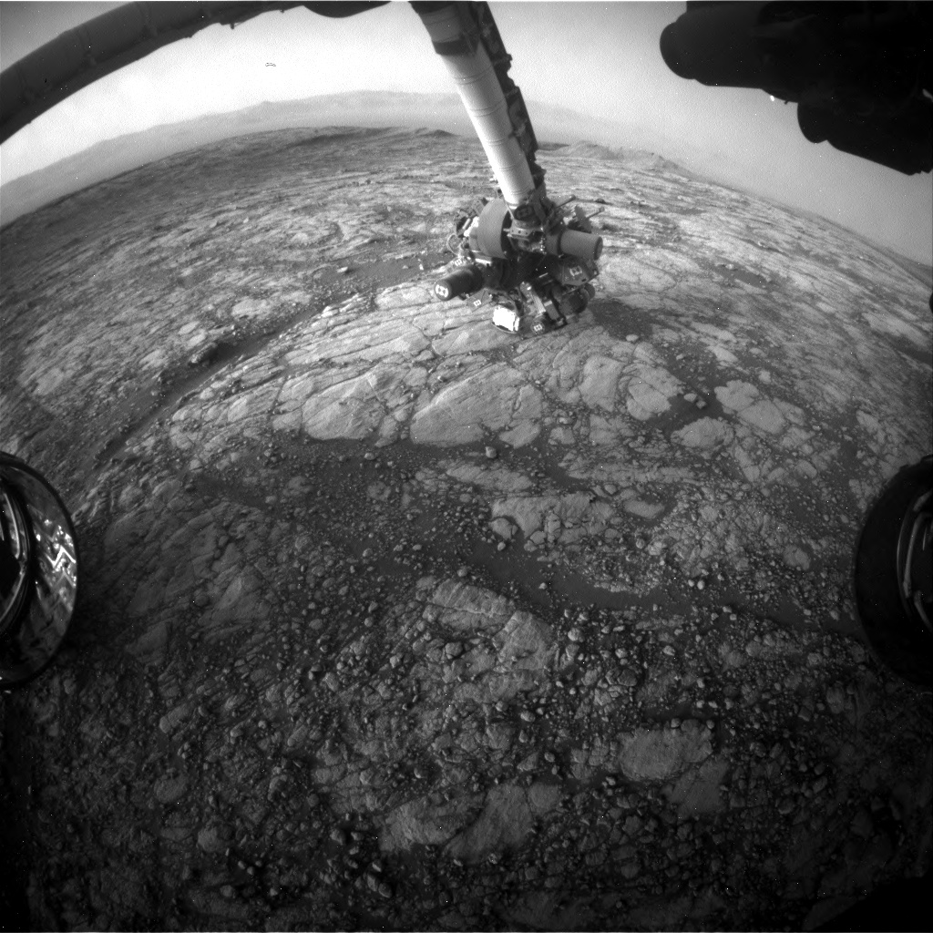 Nasa's Mars rover Curiosity acquired this image using its Front Hazard Avoidance Camera (Front Hazcam) on Sol 2749, at drive 2008, site number 79