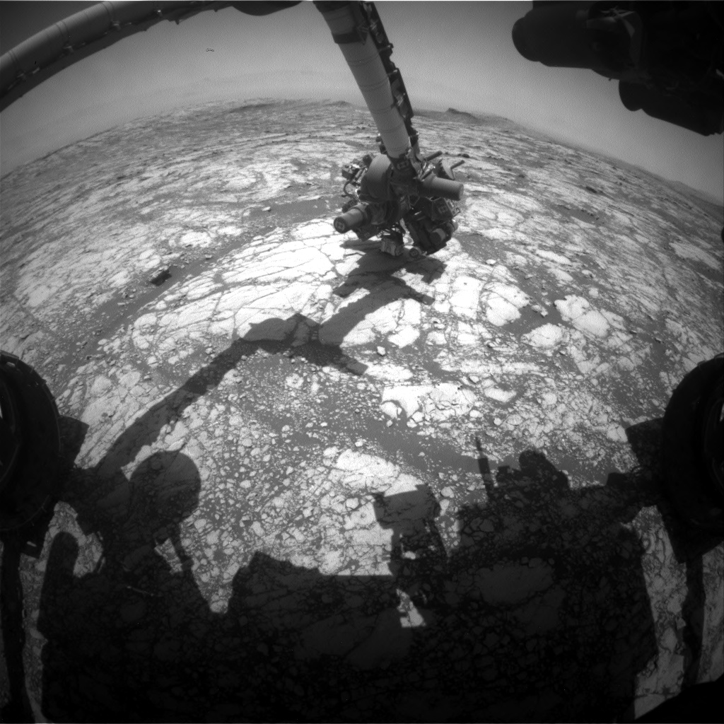 Nasa's Mars rover Curiosity acquired this image using its Front Hazard Avoidance Camera (Front Hazcam) on Sol 2750, at drive 2008, site number 79