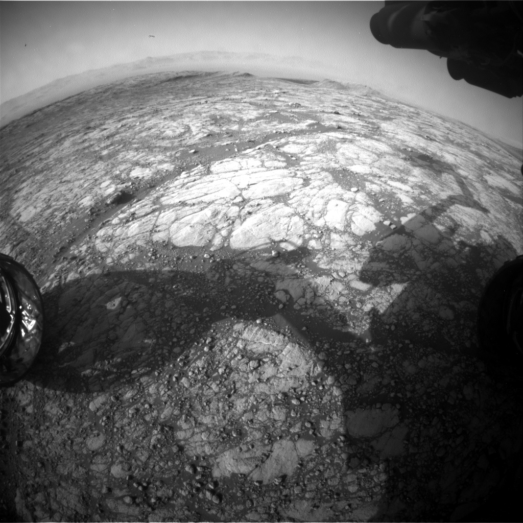 Nasa's Mars rover Curiosity acquired this image using its Front Hazard Avoidance Camera (Front Hazcam) on Sol 2751, at drive 2008, site number 79