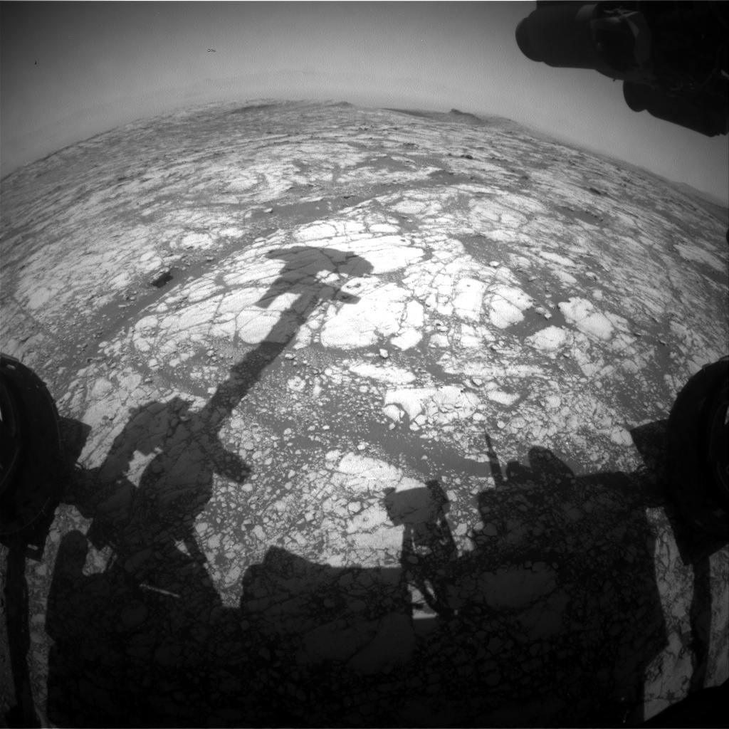 Nasa's Mars rover Curiosity acquired this image using its Front Hazard Avoidance Camera (Front Hazcam) on Sol 2753, at drive 2008, site number 79