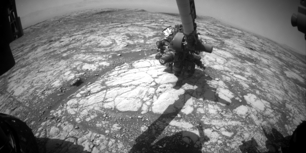 Nasa's Mars rover Curiosity acquired this image using its Front Hazard Avoidance Camera (Front Hazcam) on Sol 2754, at drive 2008, site number 79