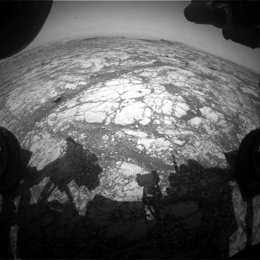 Nasa's Mars rover Curiosity acquired this image using its Front Hazard Avoidance Camera (Front Hazcam) on Sol 2755, at drive 2008, site number 79