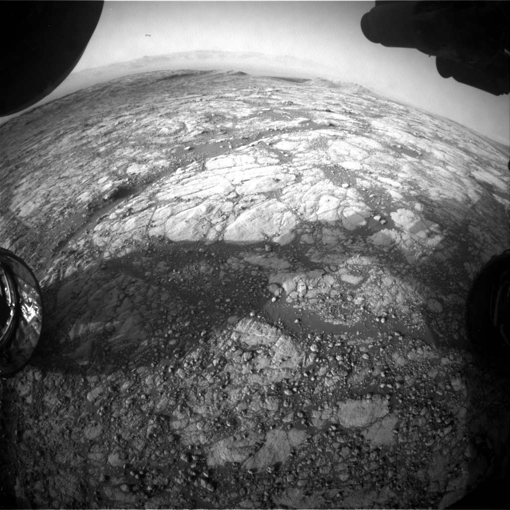 Nasa's Mars rover Curiosity acquired this image using its Front Hazard Avoidance Camera (Front Hazcam) on Sol 2756, at drive 2008, site number 79