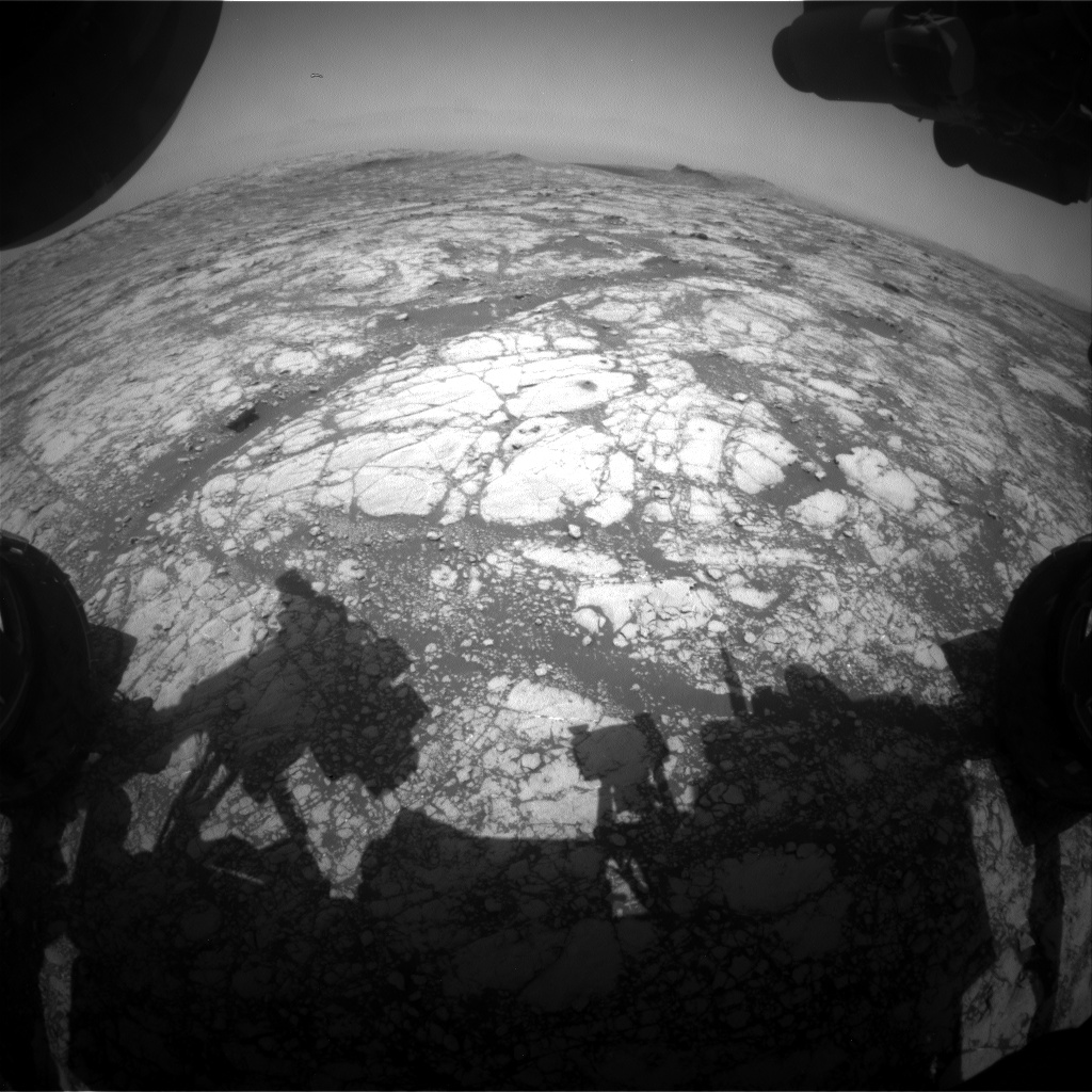 Nasa's Mars rover Curiosity acquired this image using its Front Hazard Avoidance Camera (Front Hazcam) on Sol 2757, at drive 2008, site number 79