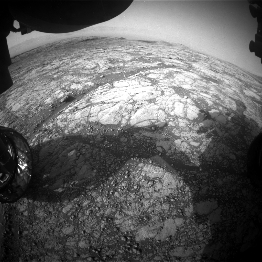 Nasa's Mars rover Curiosity acquired this image using its Front Hazard Avoidance Camera (Front Hazcam) on Sol 2758, at drive 2008, site number 79