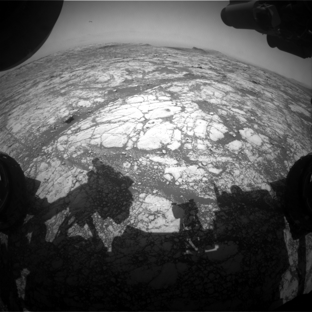 Nasa's Mars rover Curiosity acquired this image using its Front Hazard Avoidance Camera (Front Hazcam) on Sol 2759, at drive 2008, site number 79