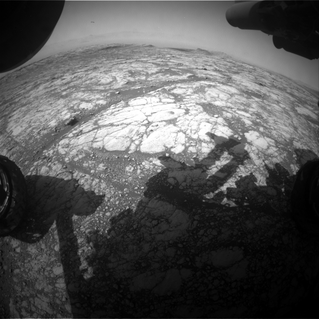 Nasa's Mars rover Curiosity acquired this image using its Front Hazard Avoidance Camera (Front Hazcam) on Sol 2761, at drive 2008, site number 79