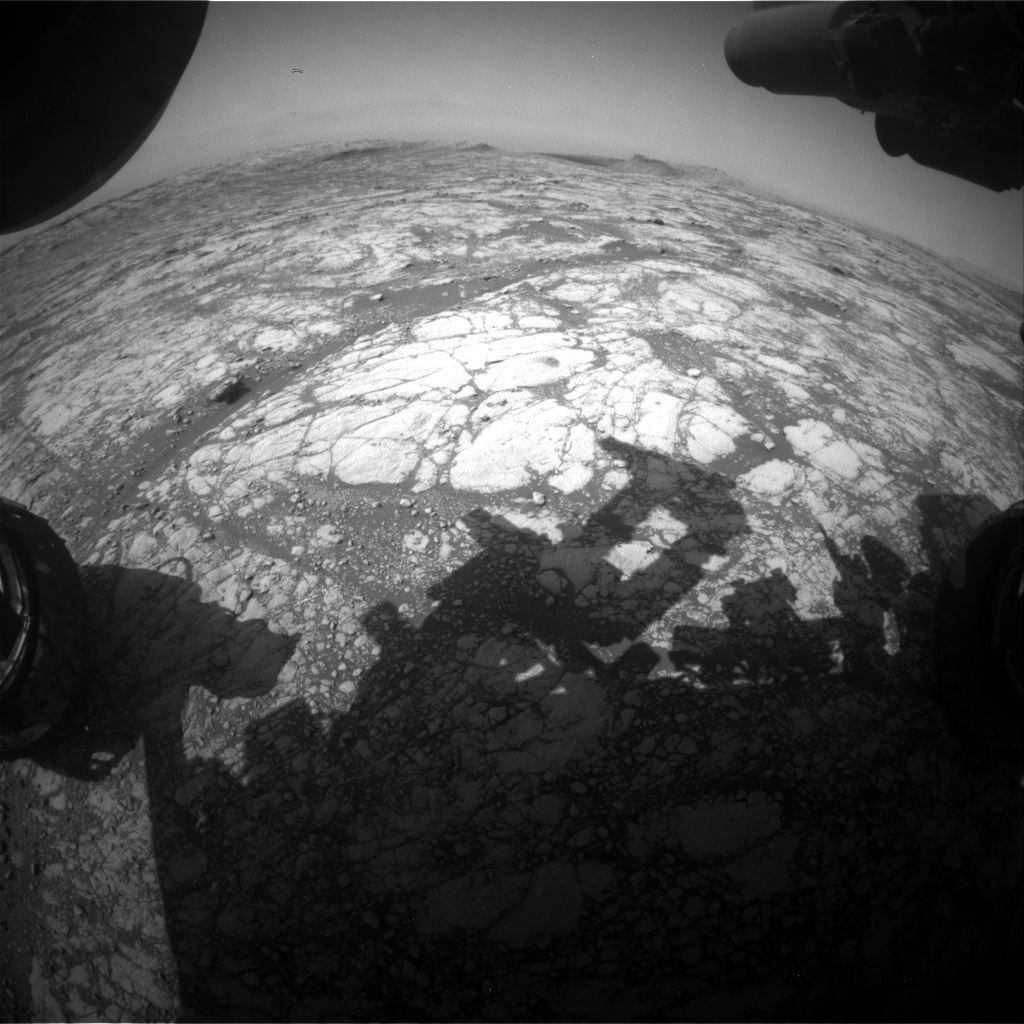 Nasa's Mars rover Curiosity acquired this image using its Front Hazard Avoidance Camera (Front Hazcam) on Sol 2763, at drive 2008, site number 79