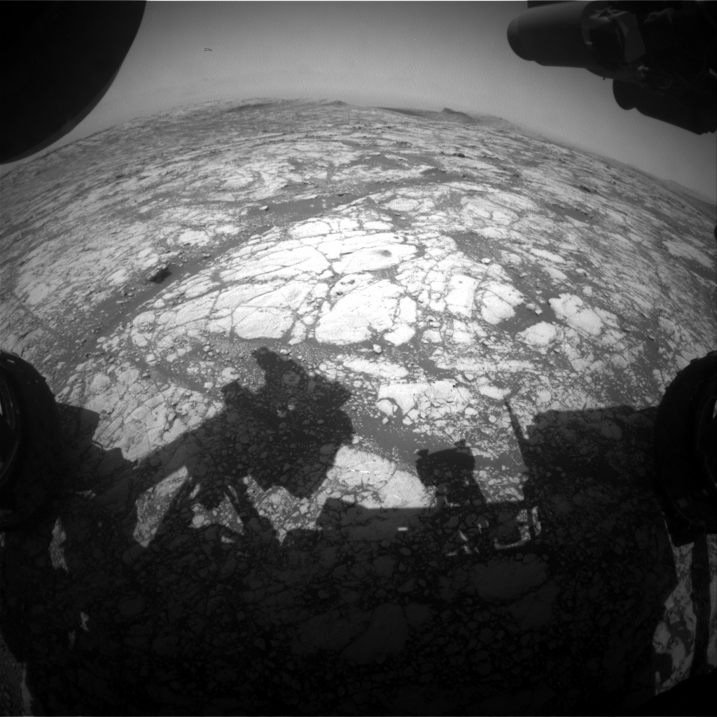 Nasa's Mars rover Curiosity acquired this image using its Front Hazard Avoidance Camera (Front Hazcam) on Sol 2764, at drive 2008, site number 79