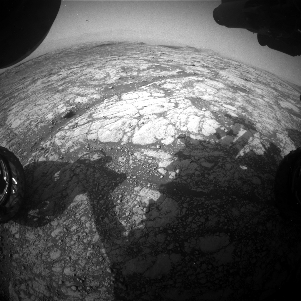 Nasa's Mars rover Curiosity acquired this image using its Front Hazard Avoidance Camera (Front Hazcam) on Sol 2765, at drive 2008, site number 79