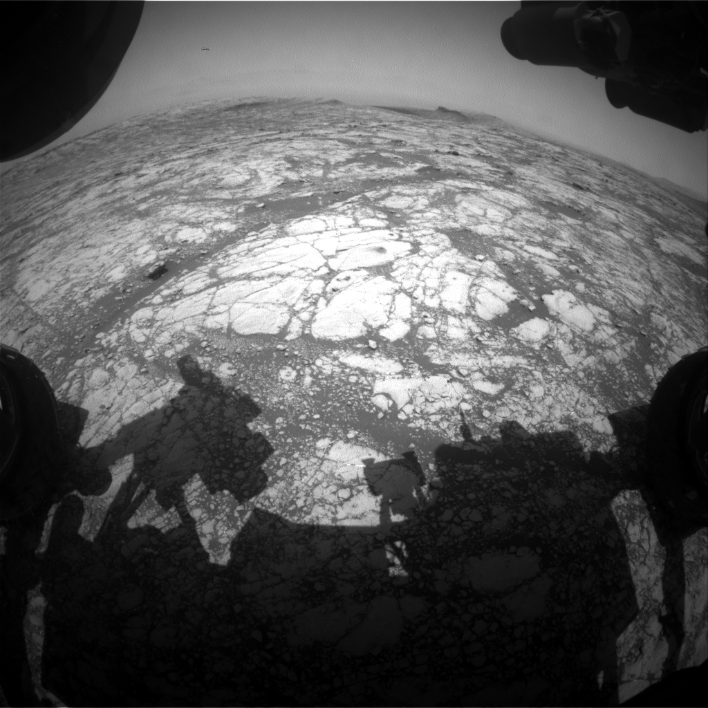 Nasa's Mars rover Curiosity acquired this image using its Front Hazard Avoidance Camera (Front Hazcam) on Sol 2766, at drive 2008, site number 79