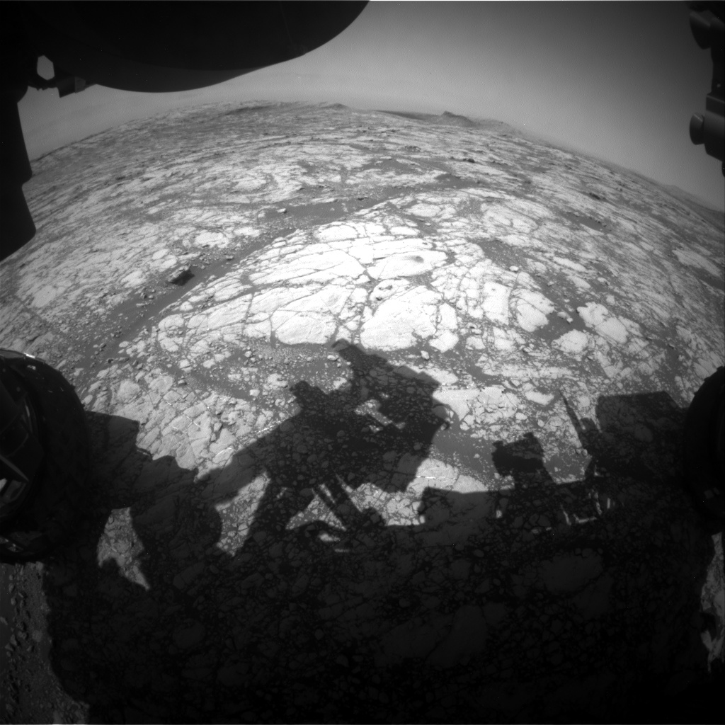 Nasa's Mars rover Curiosity acquired this image using its Front Hazard Avoidance Camera (Front Hazcam) on Sol 2767, at drive 2008, site number 79