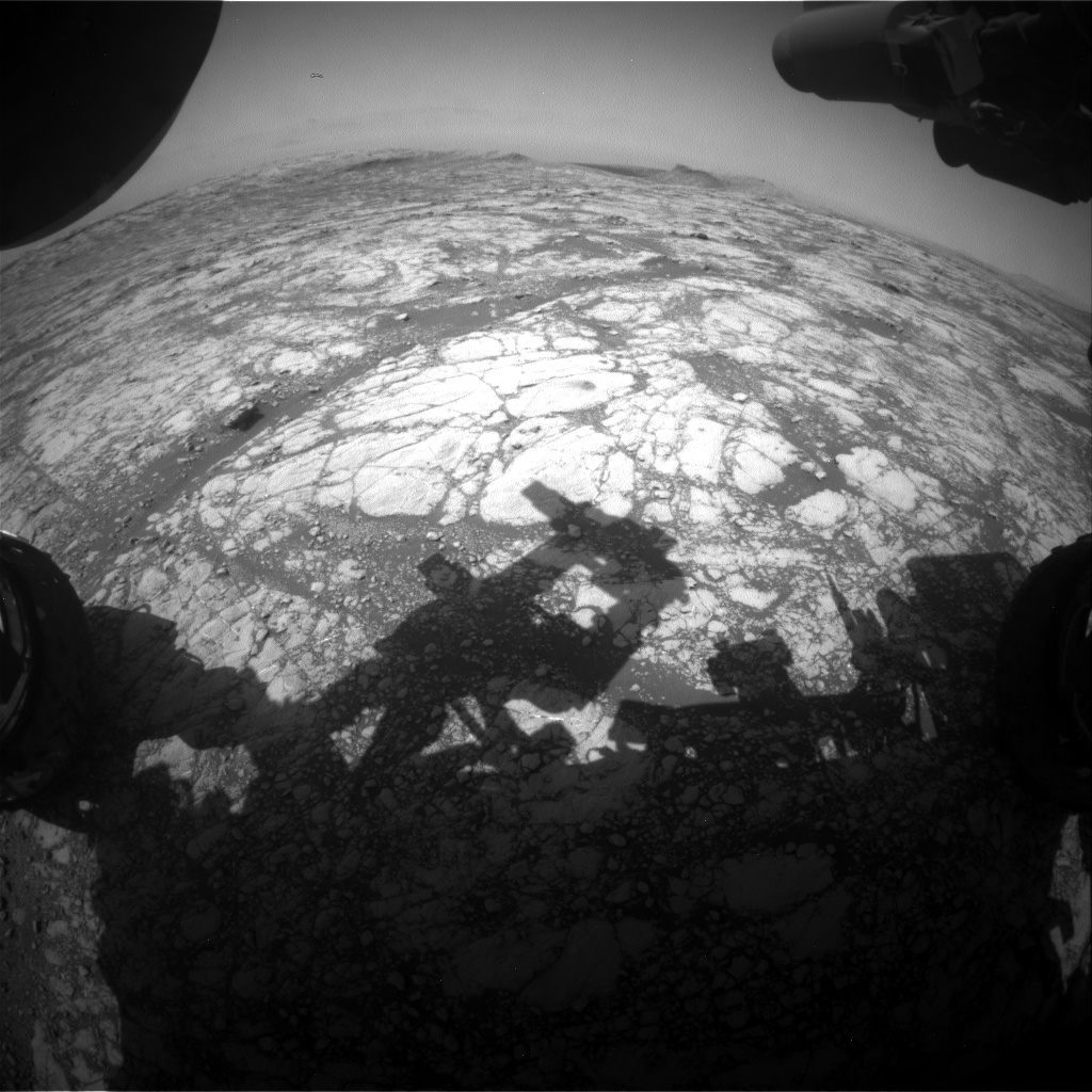 Nasa's Mars rover Curiosity acquired this image using its Front Hazard Avoidance Camera (Front Hazcam) on Sol 2768, at drive 2008, site number 79