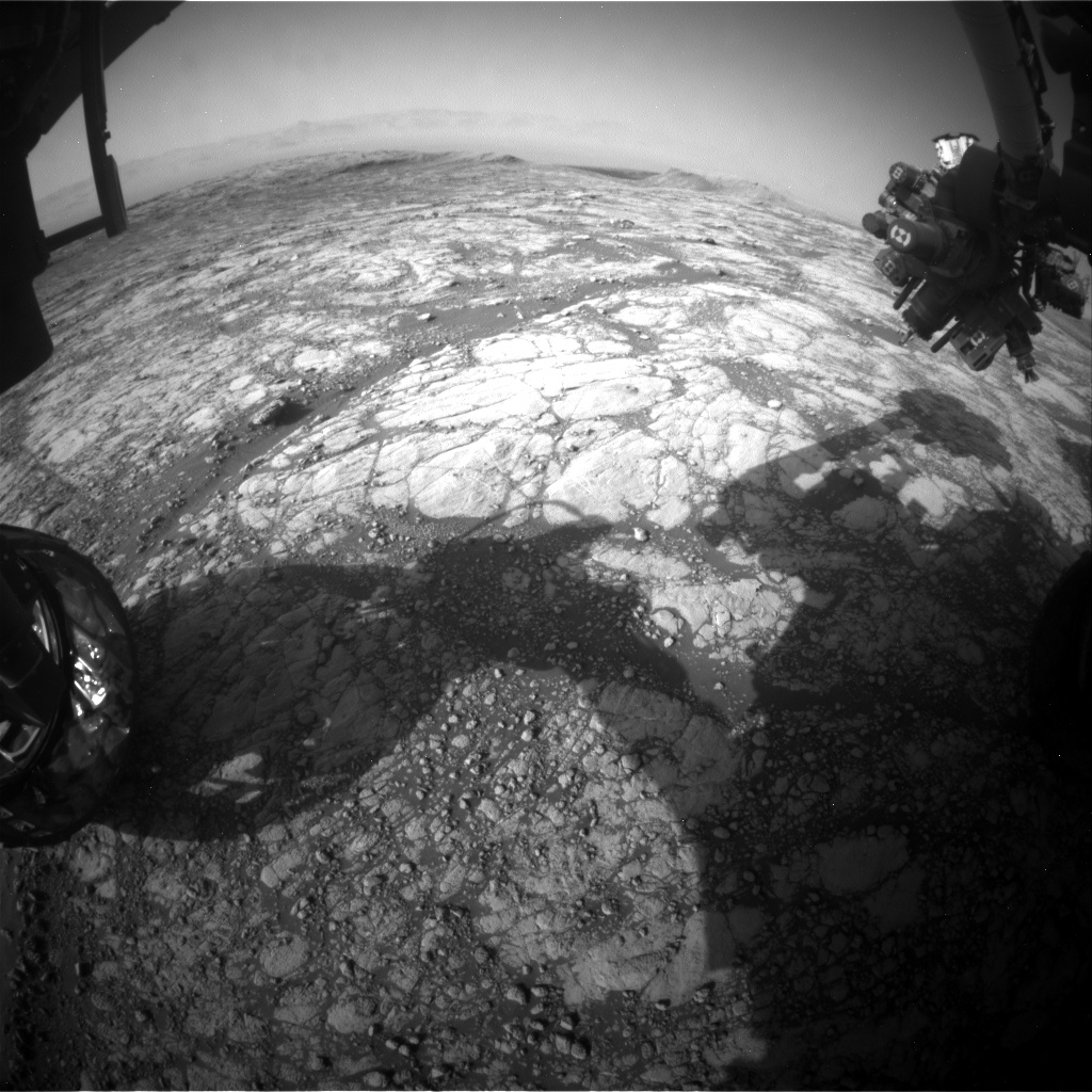 Nasa's Mars rover Curiosity acquired this image using its Front Hazard Avoidance Camera (Front Hazcam) on Sol 2769, at drive 2008, site number 79