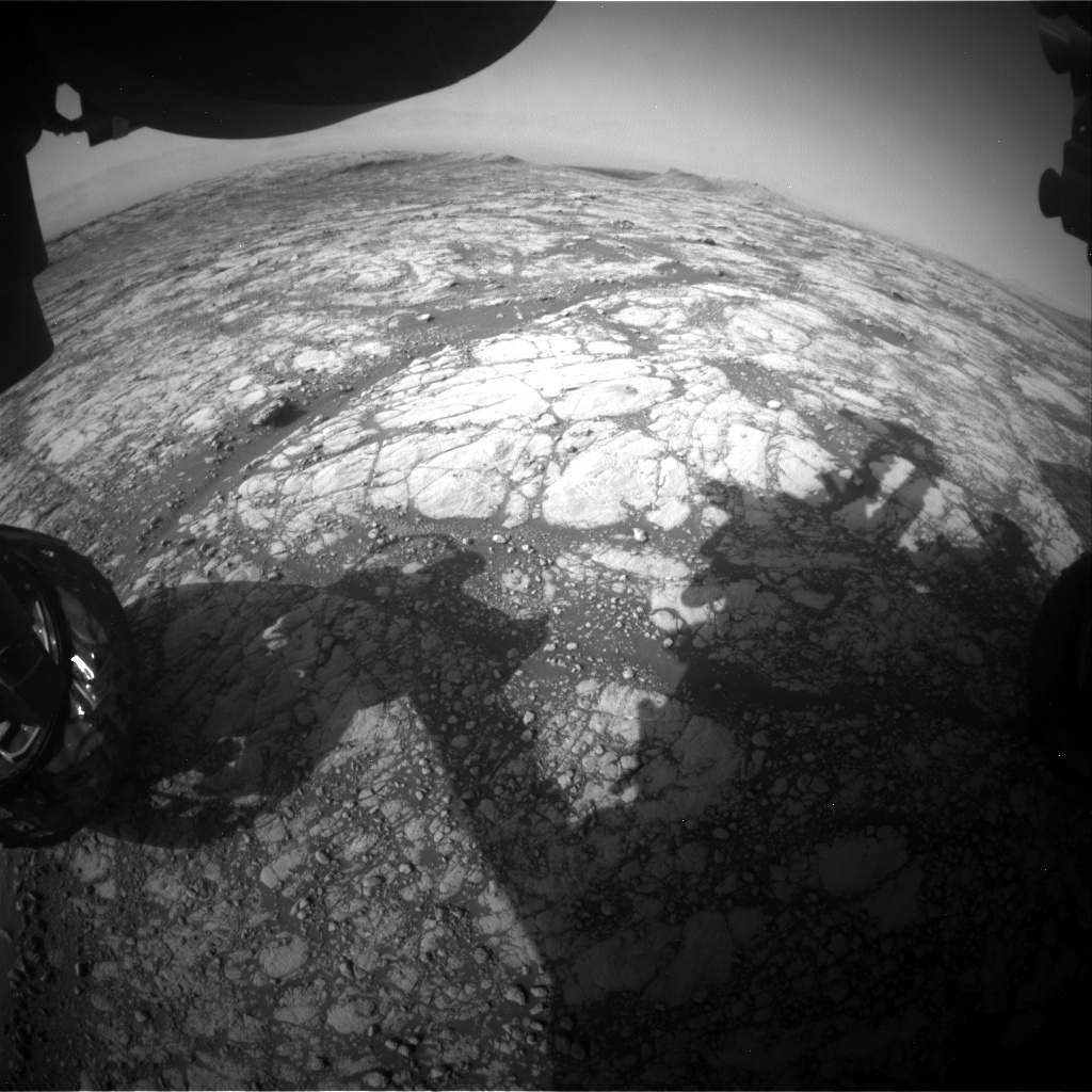 Nasa's Mars rover Curiosity acquired this image using its Front Hazard Avoidance Camera (Front Hazcam) on Sol 2772, at drive 2008, site number 79