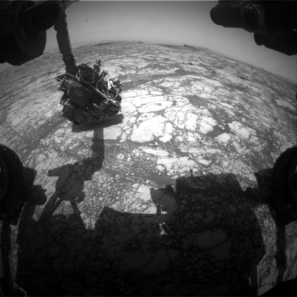 Nasa's Mars rover Curiosity acquired this image using its Front Hazard Avoidance Camera (Front Hazcam) on Sol 2774, at drive 2008, site number 79