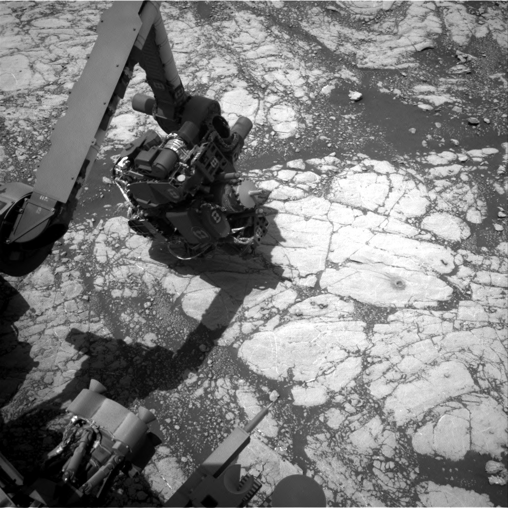 Nasa's Mars rover Curiosity acquired this image using its Right Navigation Camera on Sol 2775, at drive 2008, site number 79