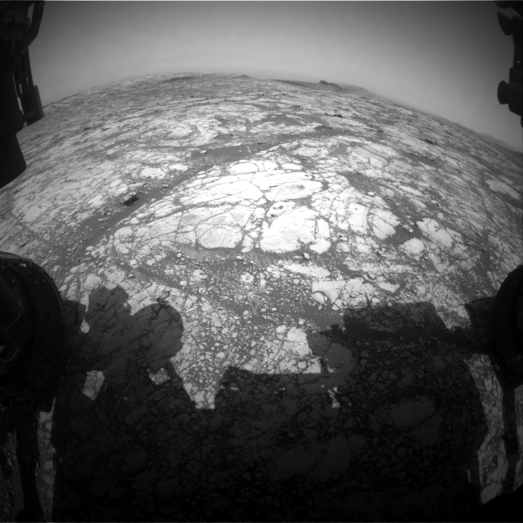 Nasa's Mars rover Curiosity acquired this image using its Front Hazard Avoidance Camera (Front Hazcam) on Sol 2777, at drive 2008, site number 79