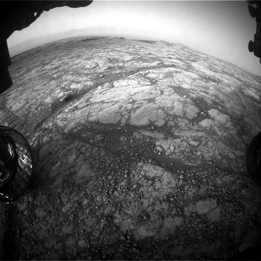 Nasa's Mars rover Curiosity acquired this image using its Front Hazard Avoidance Camera (Front Hazcam) on Sol 2778, at drive 2008, site number 79