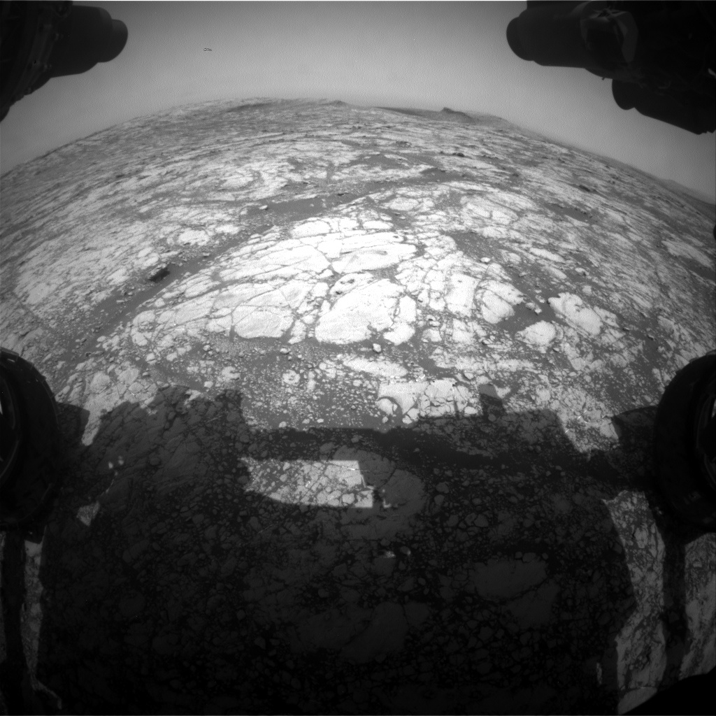 Nasa's Mars rover Curiosity acquired this image using its Front Hazard Avoidance Camera (Front Hazcam) on Sol 2779, at drive 2008, site number 79