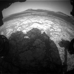 Nasa's Mars rover Curiosity acquired this image using its Front Hazard Avoidance Camera (Front Hazcam) on Sol 2781, at drive 2438, site number 79