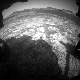 Nasa's Mars rover Curiosity acquired this image using its Front Hazard Avoidance Camera (Front Hazcam) on Sol 2781, at drive 2450, site number 79