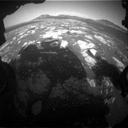 Nasa's Mars rover Curiosity acquired this image using its Front Hazard Avoidance Camera (Front Hazcam) on Sol 2781, at drive 2564, site number 79