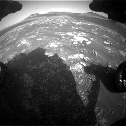 Nasa's Mars rover Curiosity acquired this image using its Front Hazard Avoidance Camera (Front Hazcam) on Sol 2781, at drive 2486, site number 79