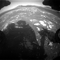Nasa's Mars rover Curiosity acquired this image using its Front Hazard Avoidance Camera (Front Hazcam) on Sol 2781, at drive 2492, site number 79
