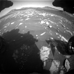 Nasa's Mars rover Curiosity acquired this image using its Front Hazard Avoidance Camera (Front Hazcam) on Sol 2781, at drive 2504, site number 79