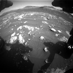 Nasa's Mars rover Curiosity acquired this image using its Front Hazard Avoidance Camera (Front Hazcam) on Sol 2781, at drive 2510, site number 79