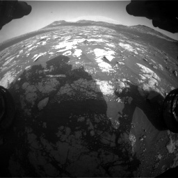 Nasa's Mars rover Curiosity acquired this image using its Front Hazard Avoidance Camera (Front Hazcam) on Sol 2781, at drive 2558, site number 79