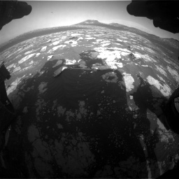 Nasa's Mars rover Curiosity acquired this image using its Front Hazard Avoidance Camera (Front Hazcam) on Sol 2781, at drive 2576, site number 79