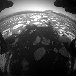 Nasa's Mars rover Curiosity acquired this image using its Front Hazard Avoidance Camera (Front Hazcam) on Sol 2781, at drive 2588, site number 79