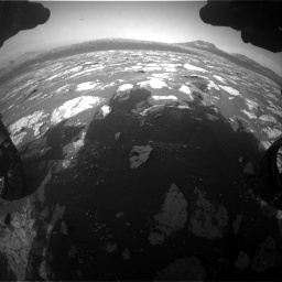 Nasa's Mars rover Curiosity acquired this image using its Front Hazard Avoidance Camera (Front Hazcam) on Sol 2781, at drive 2594, site number 79