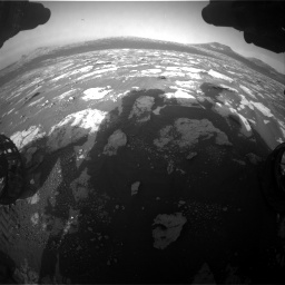 Nasa's Mars rover Curiosity acquired this image using its Front Hazard Avoidance Camera (Front Hazcam) on Sol 2781, at drive 2600, site number 79
