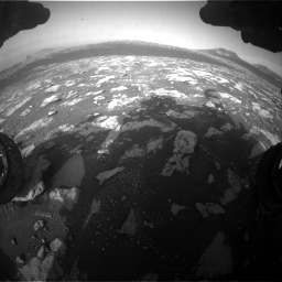 Nasa's Mars rover Curiosity acquired this image using its Front Hazard Avoidance Camera (Front Hazcam) on Sol 2781, at drive 2624, site number 79