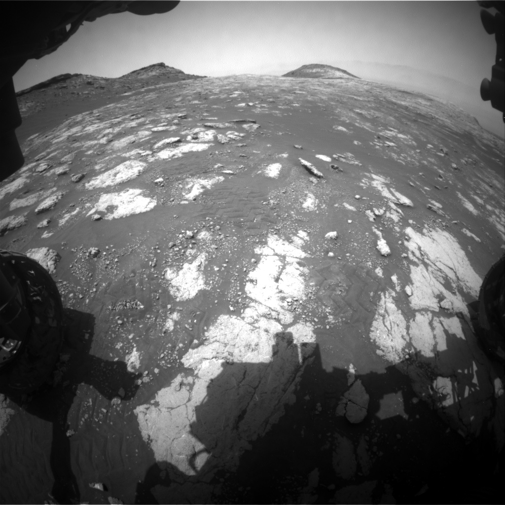 Nasa's Mars rover Curiosity acquired this image using its Front Hazard Avoidance Camera (Front Hazcam) on Sol 2782, at drive 2640, site number 79
