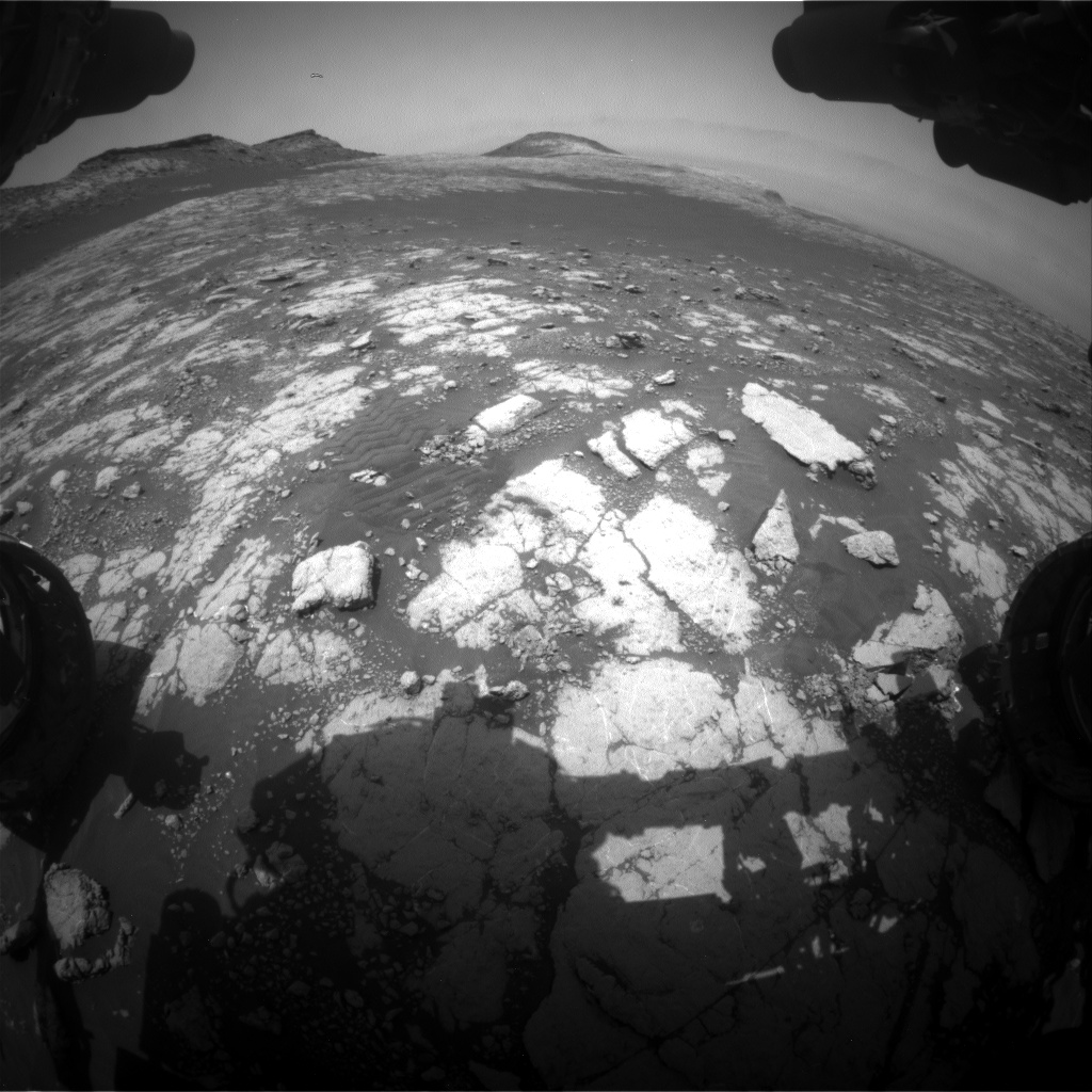 Nasa's Mars rover Curiosity acquired this image using its Front Hazard Avoidance Camera (Front Hazcam) on Sol 2784, at drive 0, site number 80