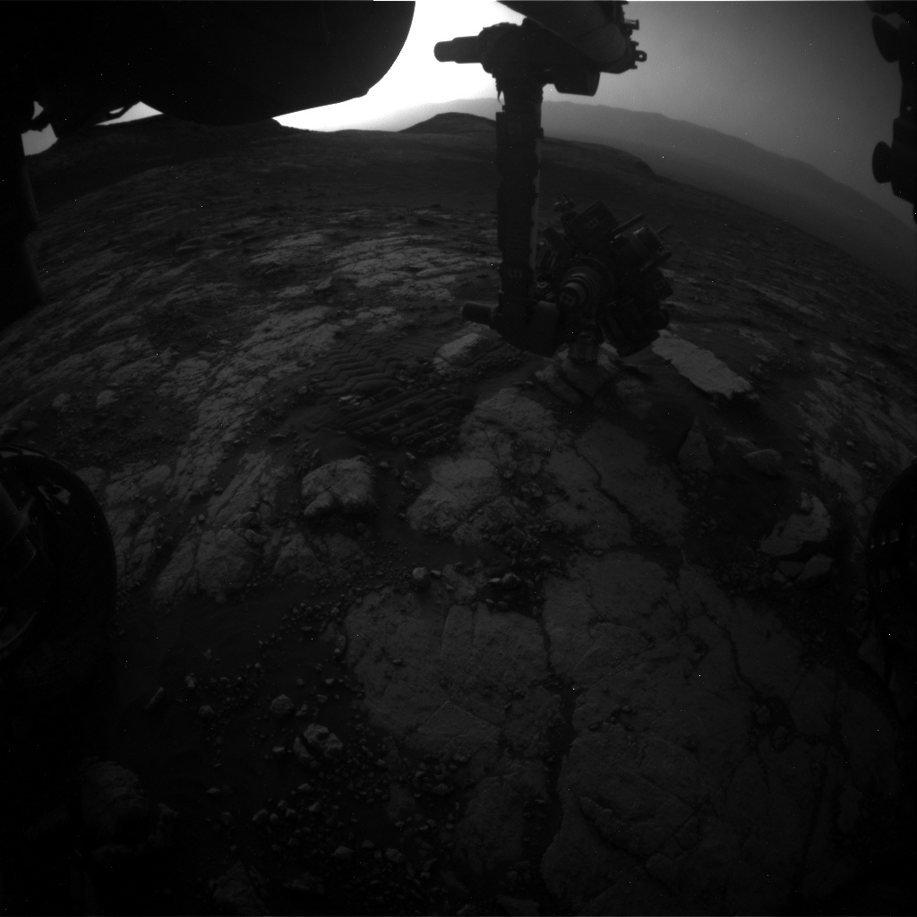 Nasa's Mars rover Curiosity acquired this image using its Front Hazard Avoidance Camera (Front Hazcam) on Sol 2785, at drive 0, site number 80