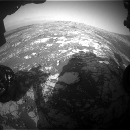 Nasa's Mars rover Curiosity acquired this image using its Front Hazard Avoidance Camera (Front Hazcam) on Sol 2786, at drive 318, site number 80