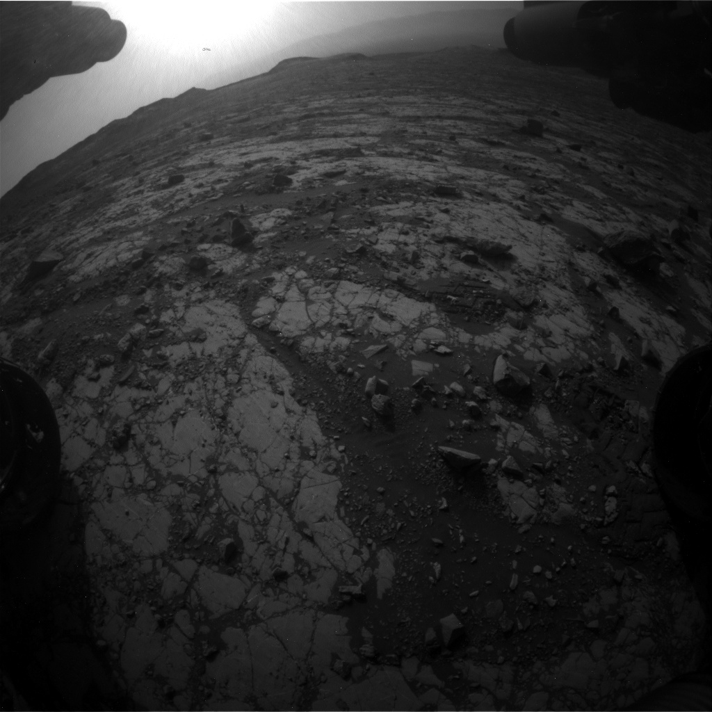Nasa's Mars rover Curiosity acquired this image using its Front Hazard Avoidance Camera (Front Hazcam) on Sol 2788, at drive 902, site number 80