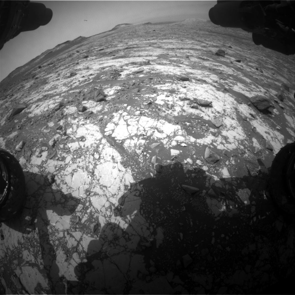 Nasa's Mars rover Curiosity acquired this image using its Front Hazard Avoidance Camera (Front Hazcam) on Sol 2789, at drive 902, site number 80
