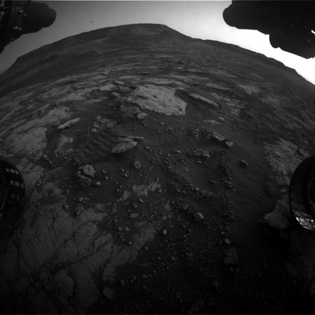 Nasa's Mars rover Curiosity acquired this image using its Front Hazard Avoidance Camera (Front Hazcam) on Sol 2790, at drive 1398, site number 80