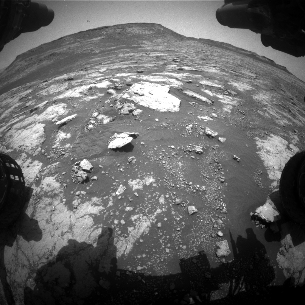 Nasa's Mars rover Curiosity acquired this image using its Front Hazard Avoidance Camera (Front Hazcam) on Sol 2791, at drive 1398, site number 80