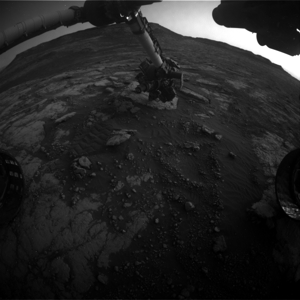 Nasa's Mars rover Curiosity acquired this image using its Front Hazard Avoidance Camera (Front Hazcam) on Sol 2792, at drive 1398, site number 80