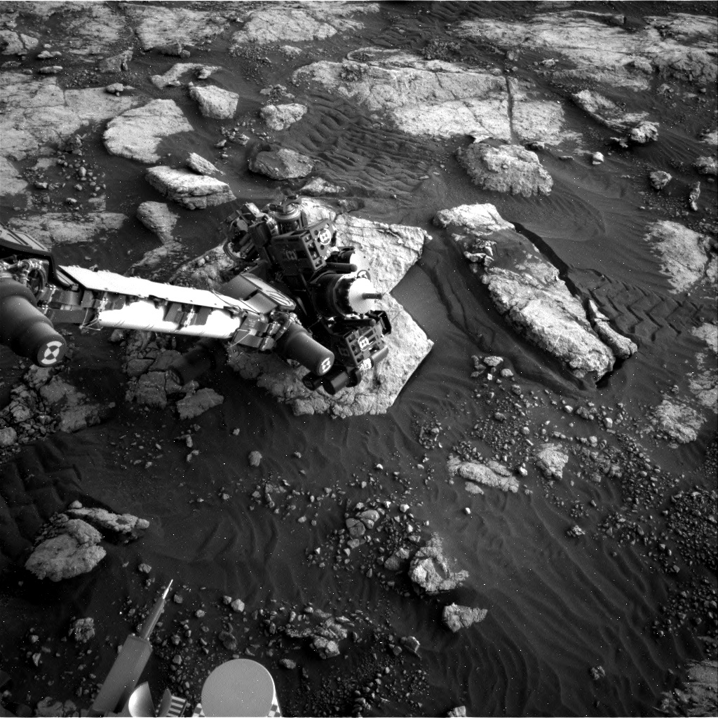 Nasa's Mars rover Curiosity acquired this image using its Right Navigation Camera on Sol 2792, at drive 1398, site number 80