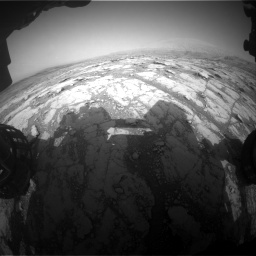 Nasa's Mars rover Curiosity acquired this image using its Front Hazard Avoidance Camera (Front Hazcam) on Sol 2793, at drive 1686, site number 80