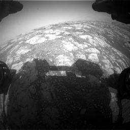 Nasa's Mars rover Curiosity acquired this image using its Front Hazard Avoidance Camera (Front Hazcam) on Sol 2793, at drive 1620, site number 80