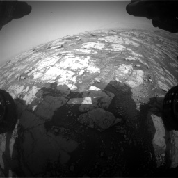 Nasa's Mars rover Curiosity acquired this image using its Front Hazard Avoidance Camera (Front Hazcam) on Sol 2793, at drive 1632, site number 80